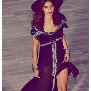 New Free People Isis Beaded maxi dress.